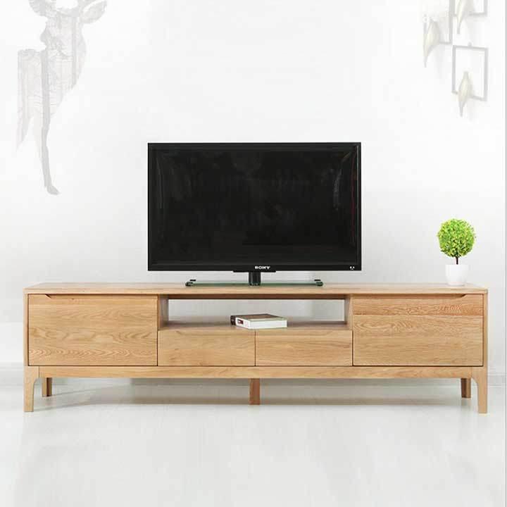 Tủ kệ tivi bằng gỗ tự nhiên thiết kế đơn giản hiện đại M8-2060 ...